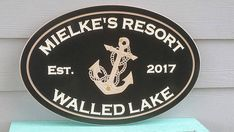 Outdoor Address Personalized Nautical Resort Beach Cottage