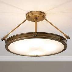 349.00/shades of light/Large Mid-Century Retro Ceiling Light