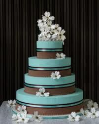 Tiffany Blue & Brown. Without the white flowers