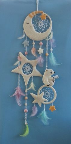 You can DIY this with salt dough and change up color or design to look more earthy. Clay Crafts, Diy And Crafts, Crafts For Kids, Arts And Crafts, Los Dreamcatchers, Deco Pastel, Craft Projects, Projects To Try, Diy Décoration