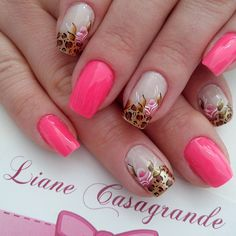 53 Ideas Manicure Colors Summer Spring For 2019 New Nail Designs, Nail Designs Spring, Acrylic Nail Designs, Acrylic Nails, Great Nails, Cute Nails, Spring Nails, Summer Nails, Pink Summer