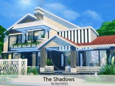 The Shadows is a elegant house built on 30x30 lot in Newcrest.  Found in TSR Category 'Sims 4 Residential Lots'