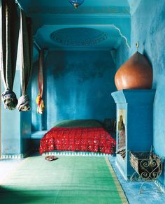 Moroccan Style...love that blue