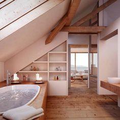 Home Design Ideas: Home Decorating Ideas Bathroom Home Decorating Ideas Bathroom Attic Bathroom: Rustic Bathroom by von Mann Architektur GmbH