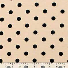 Black Foil Dots on Mauve Ponte de Roma Fabric