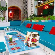 Colour Crush  @motelmexicola #wanderlust #colour #colourcrush #sunshine #mexico #tavo #tequila #interiors #blue #sopretty #funtimes #bali #seminyak #goodtimes #thisplace #addictedtoparadise #holyguacamole  by @kabana_resort_wear