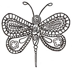 Thought it looked better without colour. #butterfly #drawing #doodle
