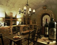 Brodbeck - mediterranean - wine cellar - other metro - Summerour Architects