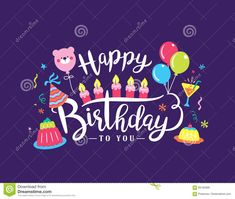 Illustration about Happy birthday handwritten lettering and colourful party elements. Illustration of birthday, lovely, design - 98182688 Happy Birthday Little Brother, Happy Birthday Cards, Birthday Wishes, Handwritten Letters, Colorful Party, Track, Clip Art, Lettering, Illustration