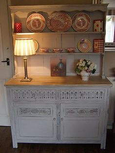 SHABBY CHIC welsh dresser -  with Annie Sloan Old White/Eglise grey