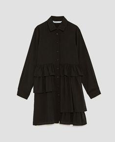 Image 8 of RUFFLED SHIRT DRESS from Zara