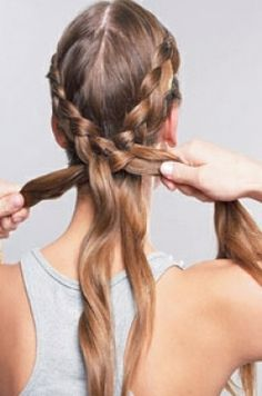 How To Do A French Braid | How to do a french plait » French, There, Tags, Once, Grecian, Keep ...  (Sides and down the back)