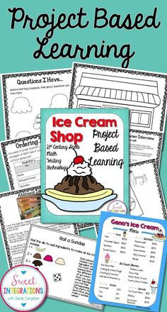 Students would have fun learning math, reading, writing, and social skills with a project-based learning opportunity like creating an ice cream shop. This project is meant for older students, but can be accommodated for my second grade students. Problem Based Learning, Inquiry Based Learning, Cooperative Learning, Project Based Learning, Early Learning, Fun Learning, Gifted Education, Physical Education, Early Education