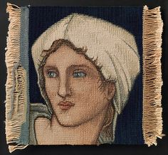 "Designed by Sir Edward Burne-Jones (British, 1833–1898). Head of a Woman, before 1923. The Metropolitan Museum of Art, New York. Purchase, Edward C. Moore Jr. Gift, 1923 (23.163.3) |See this lady by Sir Edward Burne-Jones in ""The Pre-Raphaelite Legacy,"" on view through October 26. #tapestrytuesday"