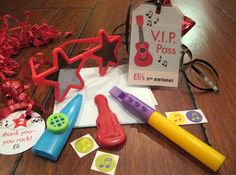 Rock star party favors