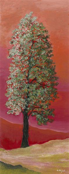 """Crimson Dawn"" (2015), David Najar http://www.parkwestgallery.com/artwork-detail?ArtID=410486"
