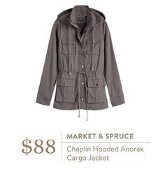 Ideas - Market & Spruce Chaplin Hooded Anorak Cargo Jacket - Stitch Fix