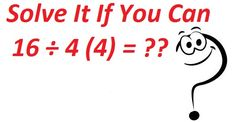 Solve It If You Can. Yesterday's answer is 64 Good Morning Friends, Arya, Puzzle, Math Equations, Canning, Rolodex, Puzzles, Home Canning, Puzzle Games