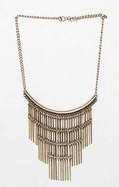 Cleopatra - Metal Fringe Necklace - Urban Outfitters - $29 BeingCleopatra.blogspot.com