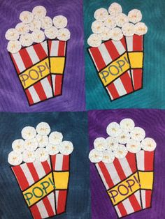 A group of art quilters and textile artists from all over the world create a challenge quilt every two months to a set theme. Popcorn, Textile Artists, Textiles, Quilts, Create, Html, Collections, Beautiful, Flowers