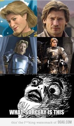 Shrek's Prince Charming looks JUST like Game of Throne's Jamie Lannister!!! Oh ma gosh!!