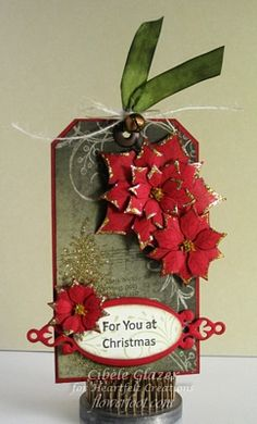 Heartfelt Creations | Poinsettia Christmas Tag
