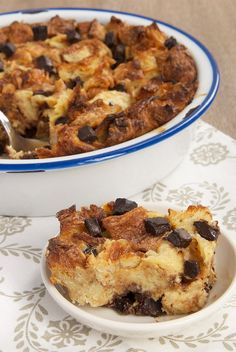 Croissants, chocolate, and a few basic ingredients are all you need to make this wonderfully delicious Chocolate Croissant Bread Pudding! - Bake or Break