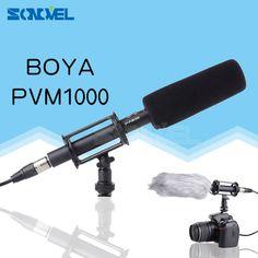 BOYA BY-PVM1000 Professional DV DSLR Condenser Shotgun Microphone Video Interview Reporting for Canon Nikon Sony DSLR Cameras #Affiliate