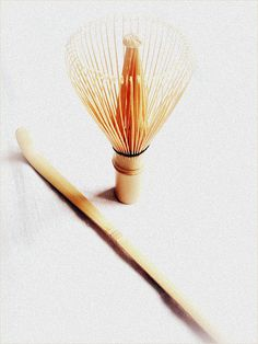 Japanese bamboo whisk and scoop for tea ceremony