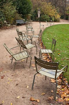 Chairs, Jardin du Luxembourg, Paris When I took my junior year in college in Paris, my folks came to visit!