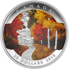Autumn is in the air...Celebrate Canada's beautiful fall foliage with this $20 2015 Autumn Express fine silver coin: