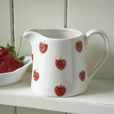 Ceramic Strawberry Jug