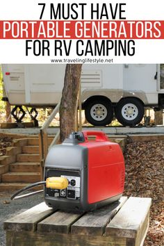 Some people might enjoy spending a couple of days without electricity, but others can't imagine spending even a mere one day without it. Luckily, there is a plethora of great portable generators you can take with you pretty much anywhere. We handpicked 7 of the best portable generators, compared 4 of them side by side and compiled this list for you. #portablegenerators #rvcamping #rvcampinghacks #rvcamping #rvtravel Rv Camping, Camping Hacks, Camping Ideas, Glamping, Top Travel Destinations, Rv Travel, Best Portable Generator, Best Travel Gadgets, Local Festivals