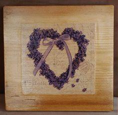 Drevený obrázok srdce