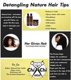 natural hair detangling tips