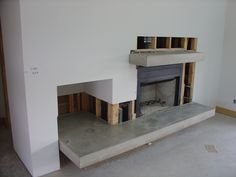 freestanding fireplace hearth cement - Google Search