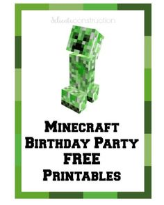 I have another set of FREE birthday party printables for you today!! This one came highly requested by many readers and friends so this week I thought I would share a set of free Minecraft party printables!! I hope you like them! Now, I may help with a friend's son's Minecraft party in a couple …