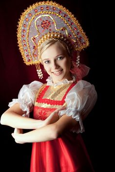 russian women traditional russian costumes i love the little girl in