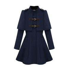 Royal Court Style Band Collar Coat ($193) ❤ liked on Polyvore