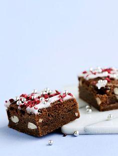 Brownies med mælkechokolade og mandler