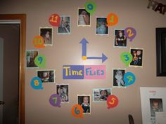 How time flies! For a 1st birthday celebration. Showcase your baby each month!