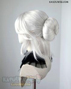 ( 2 colors ) The Witcher 3 Cirilla Fiona Elen Riannon pre-styled bun cosplay wig - [ Kasou Wig ] T Kawaii Hairstyles, Pretty Hairstyles, Wig Hairstyles, Kawaii Wigs, Lolita Hair, Manga Hair, Anime Wigs, Cosplay Wigs, Hair Art