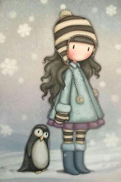 Dibujos Baby Shower, Santoro London, 3d Model Character, Winter Illustration, Cute Cartoon Girl, Little Doll, Cute Cartoon Wallpapers, Manga Comics, Whimsical Art