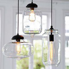 glas deckenleuchte in transparent bei impressionen - Deckenleuchten Wohnzimmer Landhausstil