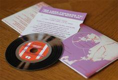 """vinyl"" invitation"