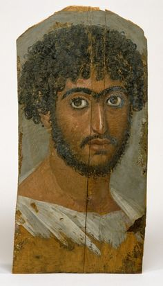 Mummy Portrait of a Bearded Man, ca. This mummy portrait of an Egyptian dates to the Roman Imperial period. Courtesy of the Walters Art Museum, Baltimore: Ancient Rome, Ancient Art, Ancient History, Ancient Greece, Art History, Modigliani, Picasso, Egypt Mummy, Post Mortem