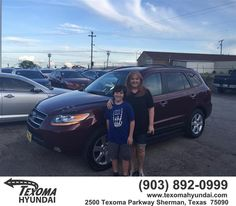 https://flic.kr/p/Fsf4QU | Happy Anniversary to Kim on your #Hyundai #Santa Fe from Mike Red Robinson at Texoma Hyundai! | deliverymaxx.com/DealerReviews.aspx?DealerCode=L967