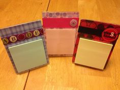 Cheap clear frames, scrapbook paper, ribbon, sticky notes and zots for a quick and easy teacher appreciation gift.
