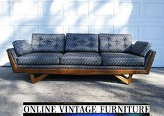 RESTORED Adrian Pearsall designer Sofa Couch Craft Assoicates vintage mid century midcentury mid-century modern Danish Knoll scan design  $4000