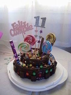 Imagenes de tortas decoradas con golosinas - Imagui